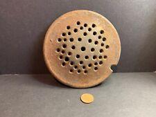 Vintage Cast Iron Sink Drain Trap, Dry Sink, Strainer