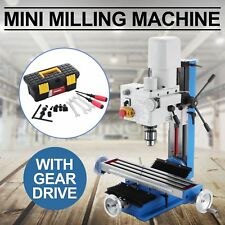 MINI MILLING DRILLING MACHINE WITH GEAR DRIVE 550W MOTOR MILL TOOL SAMEDAY SHIP