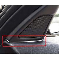 2x Chrome Front Door Speaker Cover Gap Trim For BMW 5 Series F10 2014-15 GW