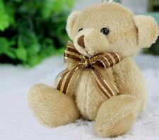 12 CM Adorable Soft Teddy Bear with Ribbon - Brown Plush Toys Birthday Gift