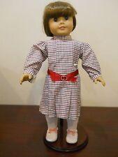american girl doll retired Samantha Pleasant Company Meet dress brown hair eyes