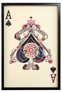 Ace of Spades Collage Wall Art - Great statement piece!