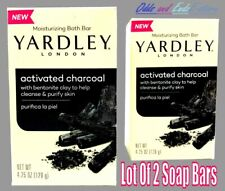 Yardley London Activated Charcoal W/ Clay Moisturizing Bar Soap (2 Bars Of Soap)
