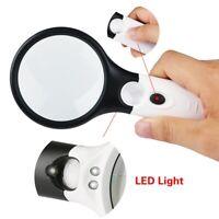 3 LED Licht 45X Handheld Lupe Lesen Lupe Objektiv Schmuck Lupe U4P2 DP