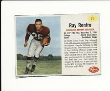 1962 POST CEREAL HAND CUT #71 RAY RENFRO