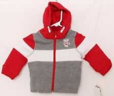 NEW Wisconsin Badgers Colosseum Gray Zip Up Hooded Jacket Toddler 3T