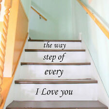 Stair Decals Family Quotes Stairway Steps Vinyl Stickers Family Home Decor ZX228