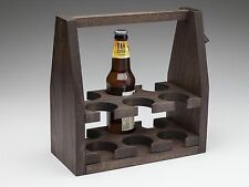 "Wooden Beer Tote/Six Pack Carrier/Quality Hardwood -  The ""Six Shooter"" (Kona)"