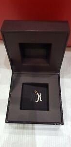 Monica vinader Gold Vermeil Alphabet 'k' with Diamonds Pendant BRAND NEW❤🌸🎁