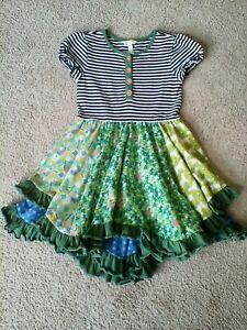 Matilda Jane girls layered ruffle dress size 8