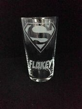 Engraved Superman Pint Glass - New - Personalised