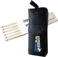 keepdrum  5A Hickory  Drumsticks 3 Paar + Stickbag SB01