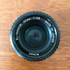 Lens Nikon EL-NIKKOR f=50mm 1:2.8 ENLARGER LENS