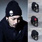 Men Women Beanie Baggy Knit Ski Cap Hip-Hop Crochet Black Winter Warm Unisex Hat