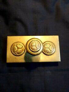 Vintage Japanese Brass Ink Blotter