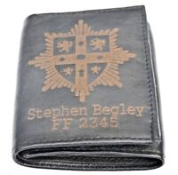 DURHAM & DARLINGTON FIRE SERVICE PERSONALISED GENUINE LEATHER WALLET ANY NAME