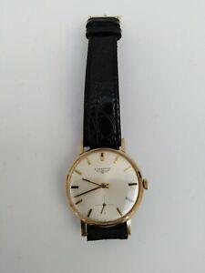 Vintage Gents 9ct Gold Longines Watch Hand Wind / Working.