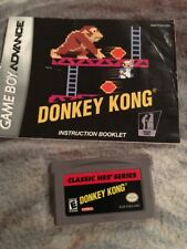 Donkey Kong Classic NES Series (Nintendo Game Boy Advance, 2004) GAME AND MANUAL