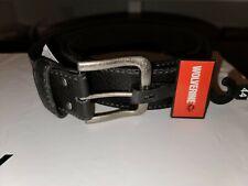 Wolverine size 44 mens black leather belt nwt