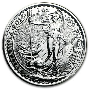 Silver 1 ounce Britannia The Royal Mint - Limited choice of year