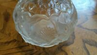 Fenton Art Glass Water Lily Crystal Velvet Rose Bowl Frosted Satin Dish