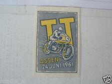 SUKERZAKJE SUGAR BAG DUTCH TT ASSEN 1961 MOTO GP WEGRACE ROADRACE