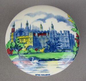Sweet vintage Eton College lidded ceramic Box / Jar. St Martin Marmalade. 14 cm