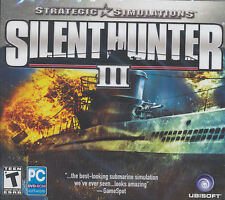 SILENT HUNTER 3 III - WW2 Submarine Combat WWII U-Boat Simulation PC Game NEW!