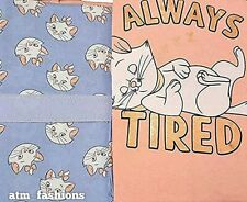 Primark Disney Aristocat Marie Ladies T-Shirt & Bottom Pyjama Pajama Pj Set Gift
