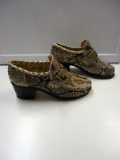 PATRICK COX WANNABE Beige Brown Snakeskin Slip On Round Toe Loafers Sz 37 B5125