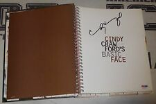 Cindy Crawford 2x Signed Auto'd Basic Face Book PSA/DNA