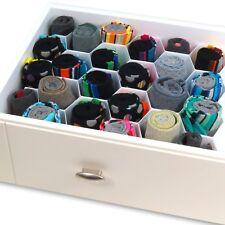 Hangerworld separador cajones 32 divisores calcetines corbatas Plástico blanco