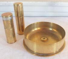 art des tranchées 14-18 2 briquets + cendrier bronze souvenir Alsace  WW1