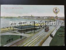 c1906 Margate from Nayland Rock, showing Tramway Terminus HERALDIC COAT of ARMS
