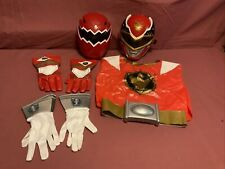 Power Rangers Red Masks (2) Vest, Gloves (2) Belt w/ Buckle Child