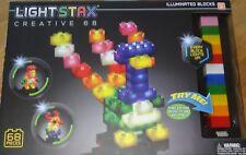 Light Stax Creative 68 Illuminated Blocks Light Up Construction Building Toy
