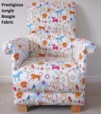 Prestigious Jungle Boogie Fabric Adult Chair Elephants Zoo Animals Lions Monkeys