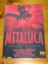 METALLICA - 1998 RELOAD POOR RETOURING ME Australia Laminated Tour Poster
