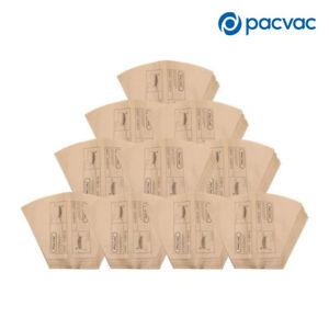 100X Genuine Pacvac Paper Dust Bag suits Superpro 700 Backpack Vacuum Cleaner