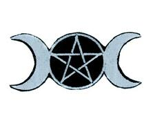Triple Moon Goddess Wicca Patch Iron on Applique Wiccan Pagan Witchcraft Occult