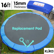16ft REPLACEMENT OUTDOOR ROUND TRAMPOLINE SAFETY SPRING PAD COVER