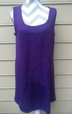 NWT New Direction Purple Sleeveless Shift Dress scoop size L