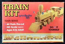 """Woodkrafter Kits"" Model #151 Train Steam Engine & Tender - 1989 - Vintage -Rare"