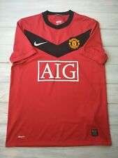 Manchester United jersey small 2009 2010 home shirt 355091-623 soccer Nike