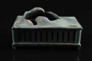 #4782: Japanese Copper Shapely INCENSE BURNER Tea Ceremony Buddhist art