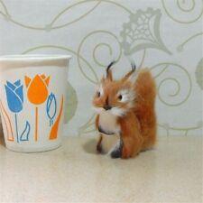 Plush Mini Animal Doll Home Decor Adornment Simulation Squirrel Toy Gift Furry