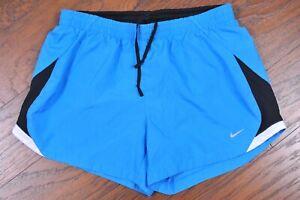 Nike Dri-Fit Lined Shorts Blue Women's Medium M