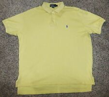 RALPH LAUREN POLO Yellow Small Pony Polo Shirt Size L