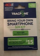 TRACFONE BYOP Bring Your Own Phone Sim Card 3/1 Kit GSM Save