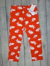 NWT Carter's Bunny Rabbit Red Cozy Fleece Girls Leggings Easter 2T